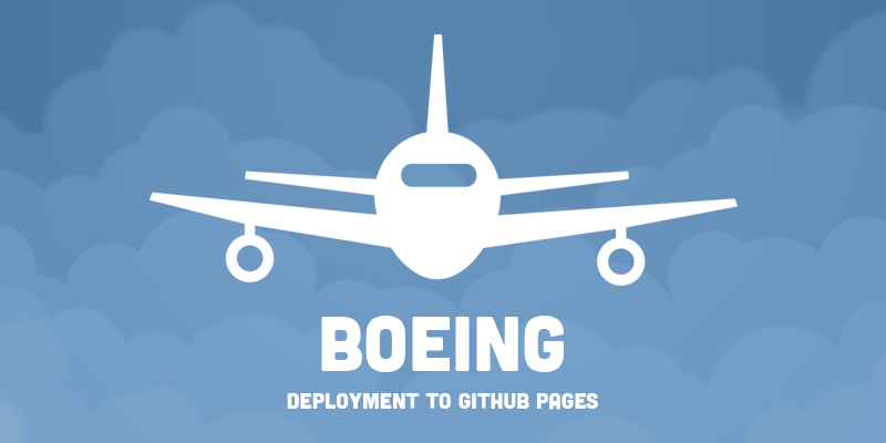 Boeing | Deployment to GitHub Pages.